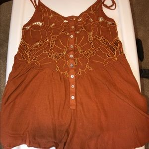 Free People Keyhole Cutout Romper